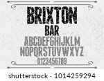 vintage font typeface... | Shutterstock .eps vector #1014259294