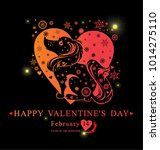 card for valentine's day. heart ...   Shutterstock .eps vector #1014275110