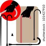 set of clip art depicting...   Shutterstock .eps vector #101427910
