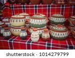 handmade pottery. traditional... | Shutterstock . vector #1014279799