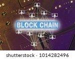 block chain concept | Shutterstock . vector #1014282496