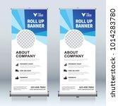 roll up banner design template  ... | Shutterstock .eps vector #1014283780
