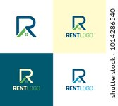 rent letter r  real estate logo ... | Shutterstock .eps vector #1014286540