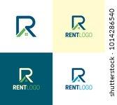 rent letter r  real estate logo ... | Shutterstock .eps vector #1014286540