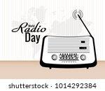 world radio day | Shutterstock .eps vector #1014292384
