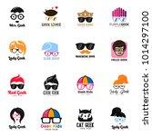 geek logo set vector | Shutterstock .eps vector #1014297100
