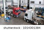 auto service for trucks   door... | Shutterstock . vector #1014301384