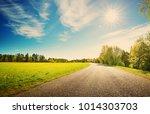 asphalt road panorama in...