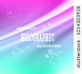 colored hologram vector... | Shutterstock .eps vector #1014303928