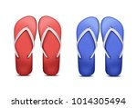 vector two pair of red and blue ... | Shutterstock .eps vector #1014305494
