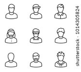 avatars of men icon set  linear ... | Shutterstock .eps vector #1014305824