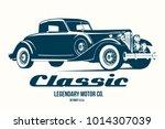 vintage car t shirt design... | Shutterstock .eps vector #1014307039
