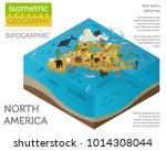 isometric 3d north america... | Shutterstock .eps vector #1014308044