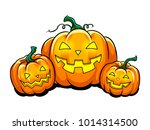halloween lantern pop art retro ... | Shutterstock .eps vector #1014314500