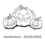 halloween lantern coloring... | Shutterstock .eps vector #1014314503