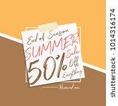 summer sale v6 50 percent... | Shutterstock .eps vector #1014316174