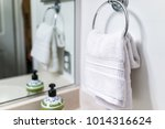 staging modern bathroom with... | Shutterstock . vector #1014316624