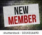 new member   poster concept | Shutterstock . vector #1014316690