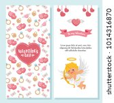 valentine's day greeting card.... | Shutterstock .eps vector #1014316870