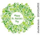 st patrick's day background.... | Shutterstock .eps vector #1014316903