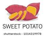 delicious sweet potato | Shutterstock .eps vector #1014319978