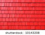 Painted Red Shingle Siding.