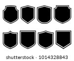 shields collection. black... | Shutterstock .eps vector #1014328843