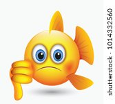 cute fish emoticon  emoji ... | Shutterstock .eps vector #1014332560