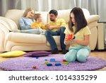 sibling relationship. parents... | Shutterstock . vector #1014335299