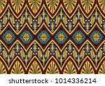 geometric folklore ornament.... | Shutterstock .eps vector #1014336214