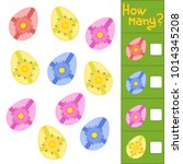 counting game for preschool... | Shutterstock .eps vector #1014345208