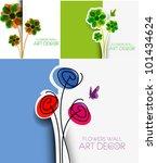 set of template design for... | Shutterstock .eps vector #101434624