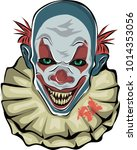 Scary Clown. Vector Illustration