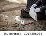crime scene investigation  ...   Shutterstock . vector #1014356098