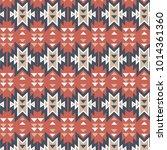 aztec pattern. tribal pattern... | Shutterstock .eps vector #1014361360