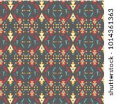 aztec pattern. tribal pattern... | Shutterstock .eps vector #1014361363