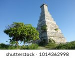 headlight of fakarava atoll in... | Shutterstock . vector #1014362998