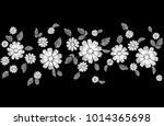 white lace flower embroidery... | Shutterstock .eps vector #1014365698