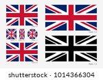 union jack. flag of united... | Shutterstock .eps vector #1014366304