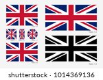 union jack. flag of united... | Shutterstock .eps vector #1014369136
