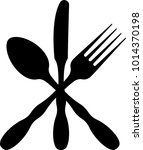 cutlery icon  fork  spoon and... | Shutterstock .eps vector #1014370198
