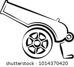 cannon icon  weapon icon  old... | Shutterstock .eps vector #1014370420