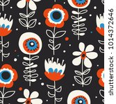 seamless pattern with hand... | Shutterstock .eps vector #1014372646