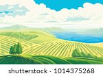 rural landscape with a... | Shutterstock .eps vector #1014375268