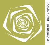 rose. vector flower. beautiful...   Shutterstock .eps vector #1014375400