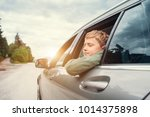 traveling by auto   son and... | Shutterstock . vector #1014375898