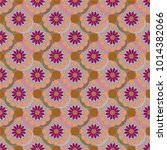 new color seamless pattern with ... | Shutterstock . vector #1014382066