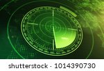 sonar screen for submarines and ... | Shutterstock . vector #1014390730