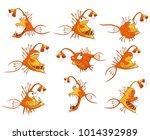 monk fish set . deep water fish....   Shutterstock .eps vector #1014392989