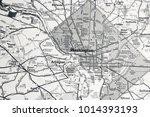 washington on map | Shutterstock . vector #1014393193